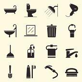 Bathroom Icons | Background