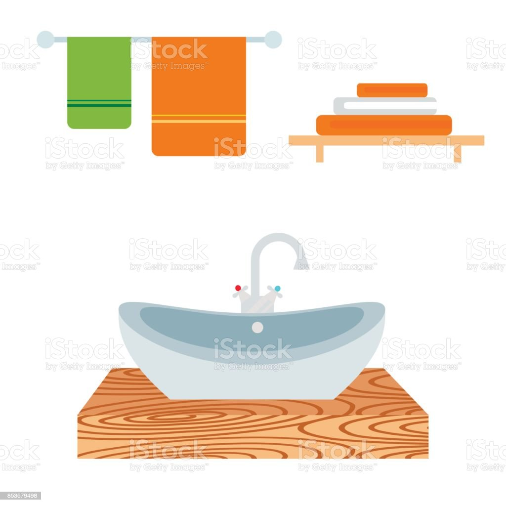 Bathroom Icons Process Water Savings Symbols Hygiene ...