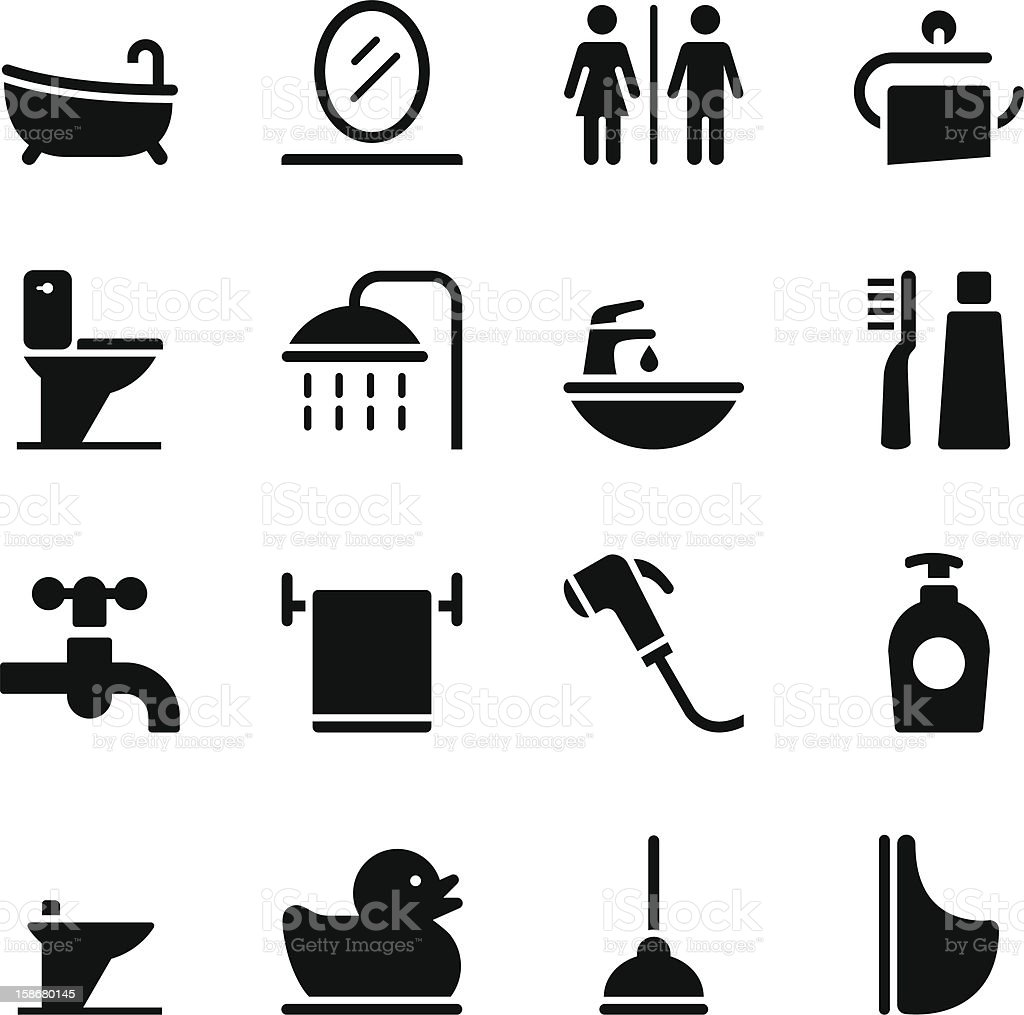 Bathroom Icons Stock Illustration Download Image Now