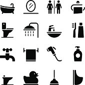 Vector file of Bathroom Icons