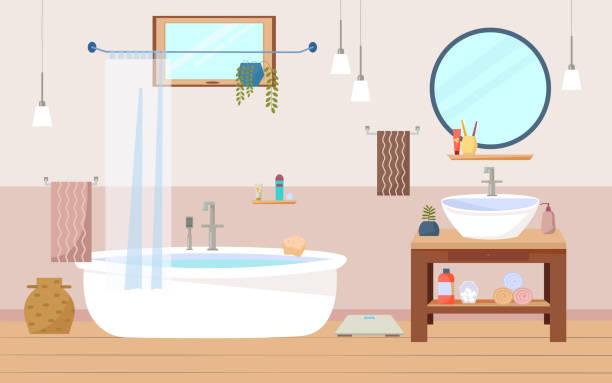 Cartoon Of The Fancy Bathroom Sinks Illustrations, Royalty ...