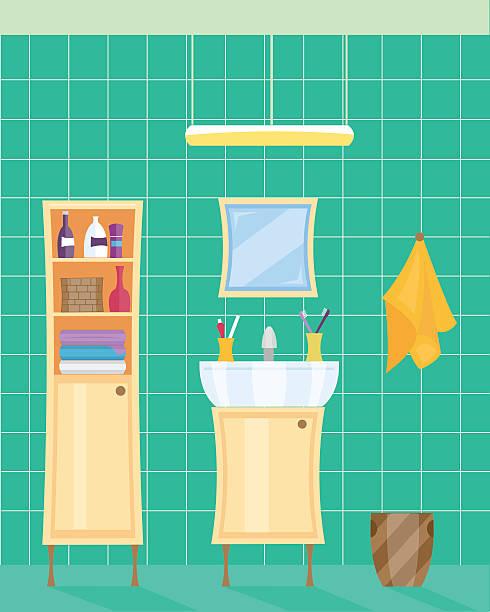 Bathroom Cabinet Clip Art: Best Medicine Cabinet Illustrations, Royalty-Free Vector