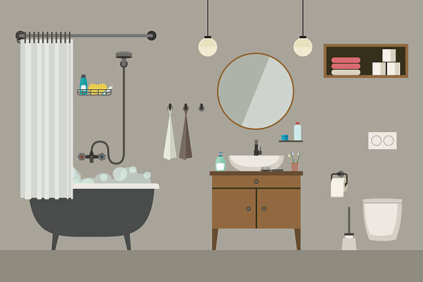 Royalty Free Domestic Bathroom Clip Art, Vector Images ...