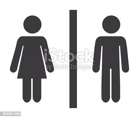 Vector of Bathroom Mixed Gender Icon