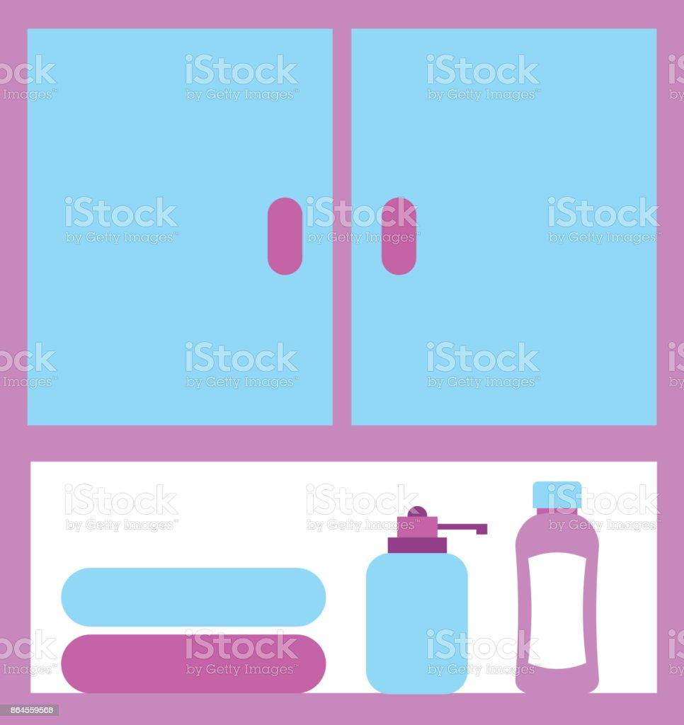 Modulare Badezimmermobel Handtucher Sonstiges Zubehor Stock Vektor