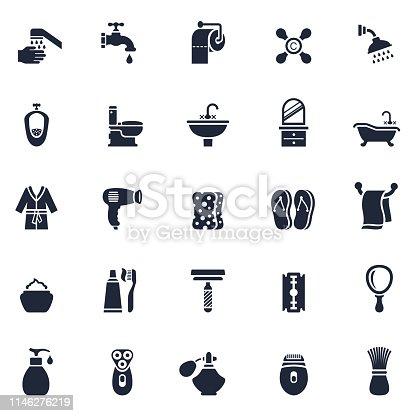 Bathroom or Shower Icon Set