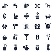 Bathroom or Shower Icon Set