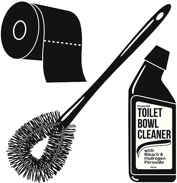 Bathroom Clip Art Black And White: Royalty Free Toilet Paper Clip Art, Vector Images