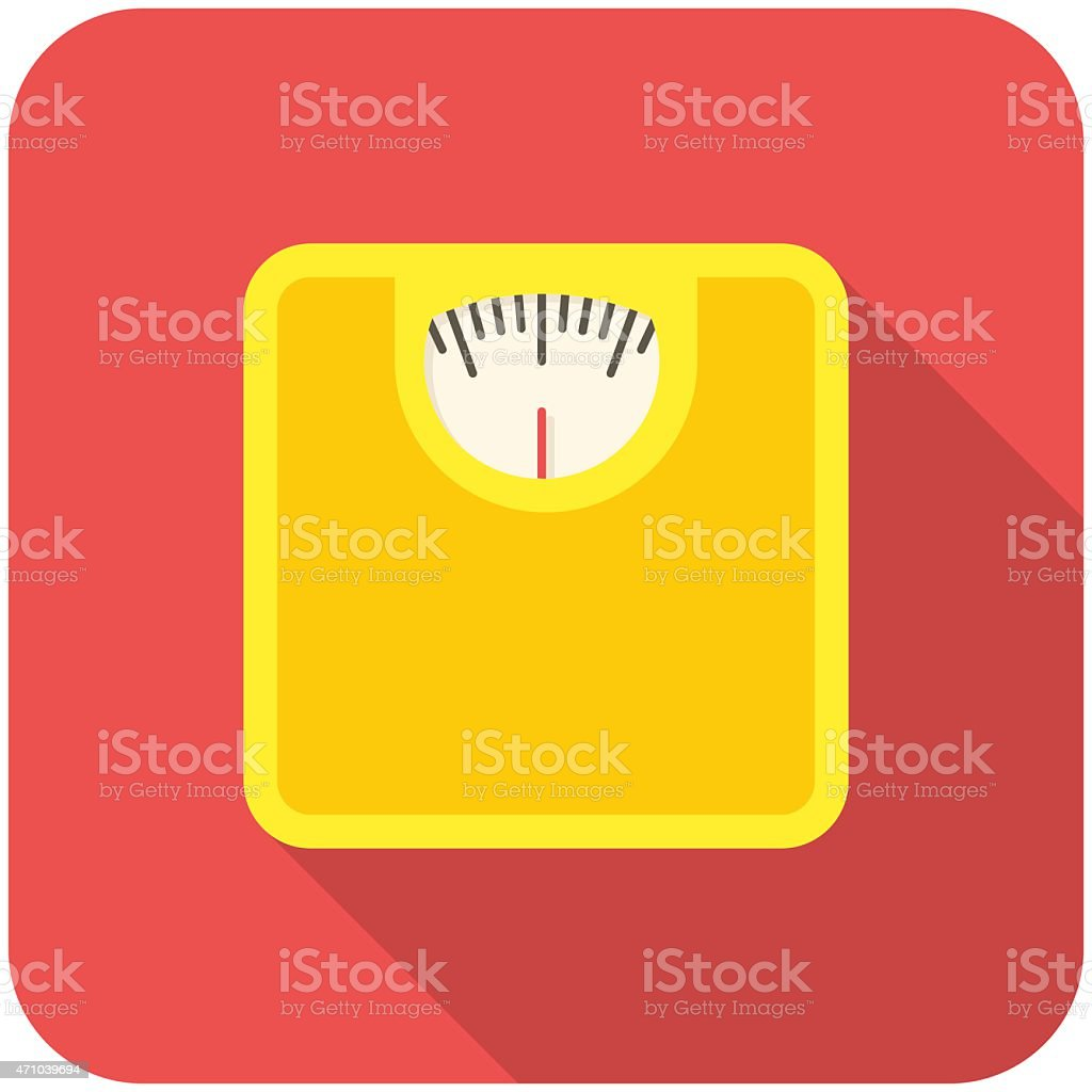 Bathroom scale icon vector art illustration