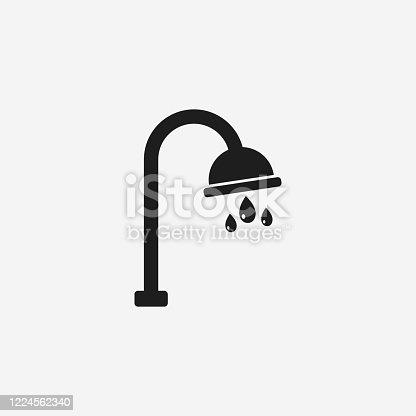 istock Bathroom Shower Icon. Editable Vector EPS Symbol Illustration. 1224562340