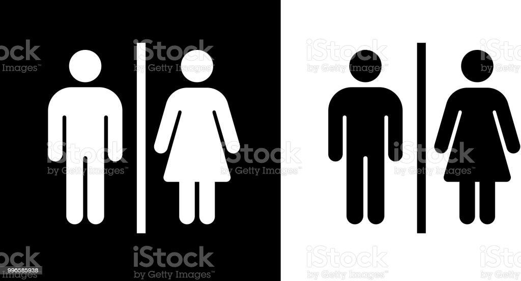 Bathroom Sign Icon vector art illustration