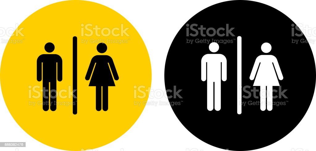 Royalty Free Black And White Toilet Sign Clip Art Vector Images