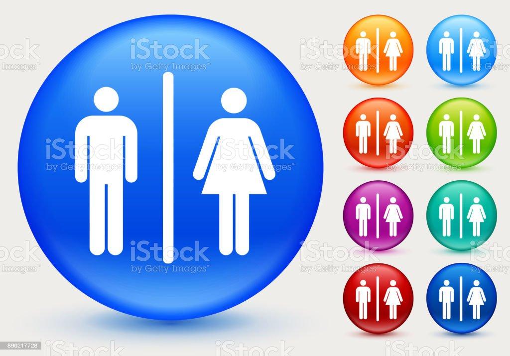 Bathroom Sign Vector Style classic style orange bathrooms clip art, vector images
