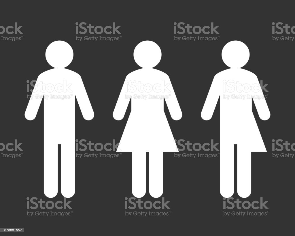 bathroom sign vector. Bathroom Sign With Third Gender And Sex Royalty-free Vector S