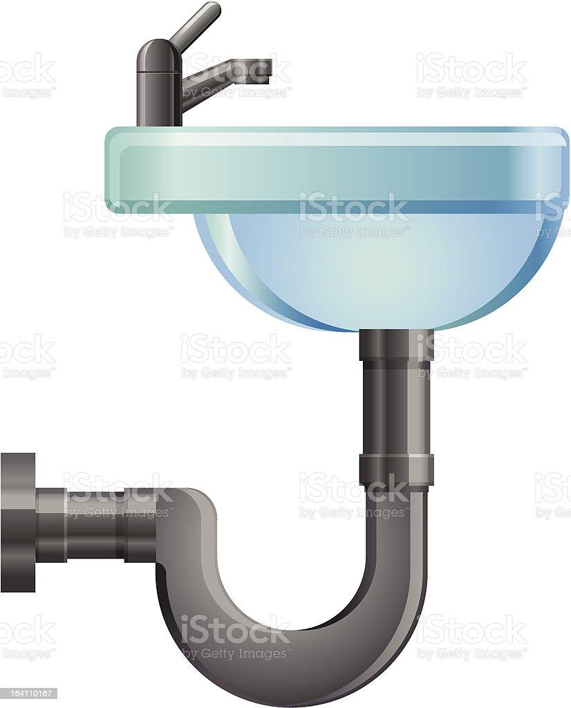 Bathroom Sink vector icon vector art illustration