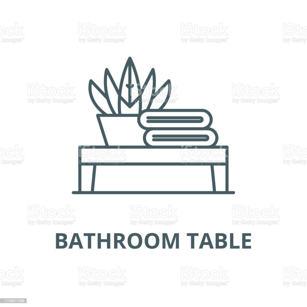 Tableau Salle De Bain tableau de salle de bain vecteur ligne icône concept