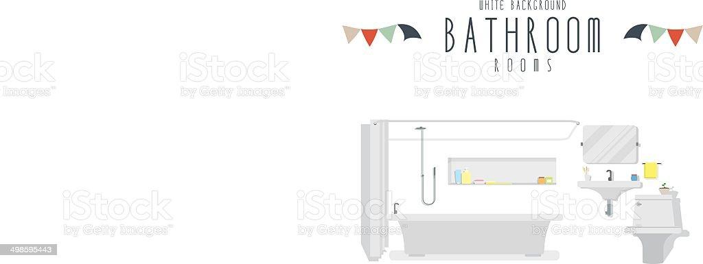 Bathroom (White Background) vector art illustration
