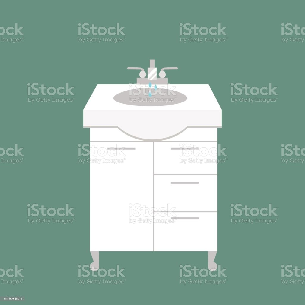 Bathroom washbasin icon colored with process water savings symbols hygiene and clean household washing cleaning beauty dryer vector illustration vector art illustration