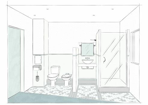 Bathroom's sketch