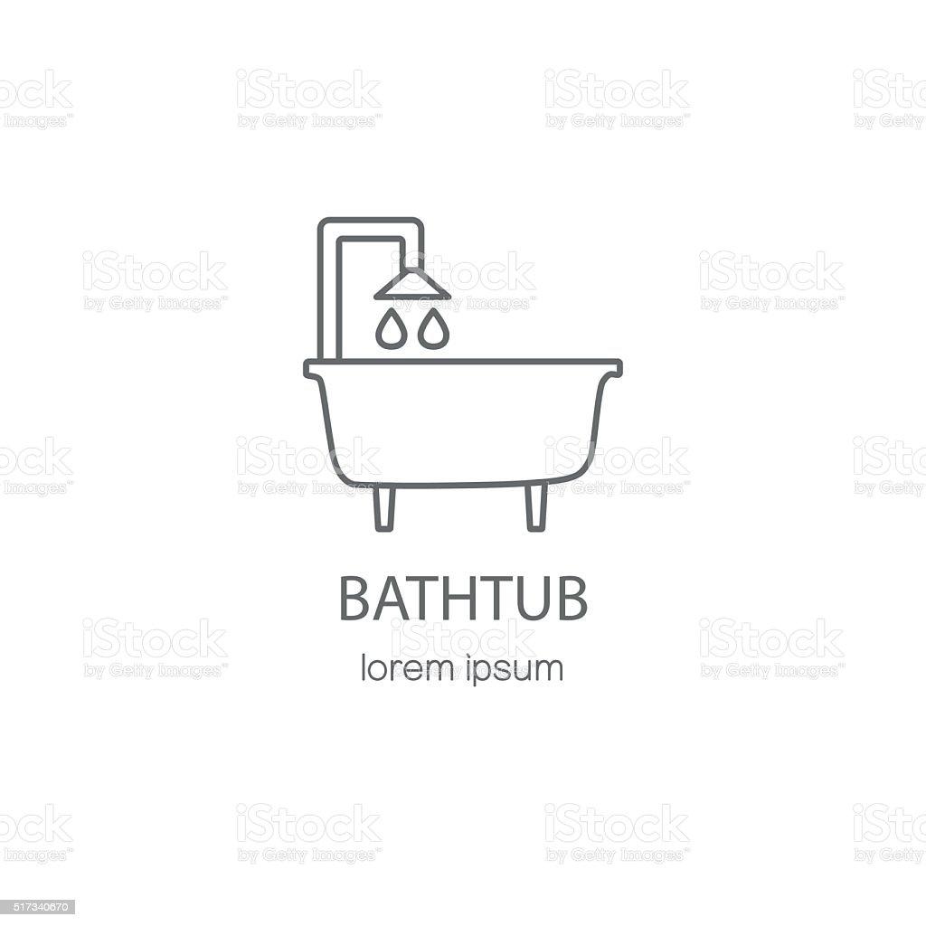 bañera y sanitario logotipo plantillas de diseño illustracion