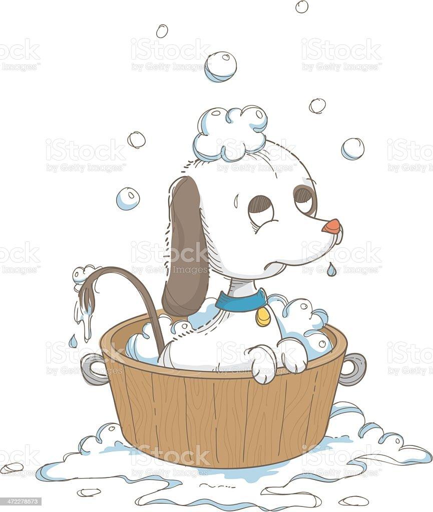 Badewanne Hund Stock Vektor Art Und Mehr Bilder Von Badewanne