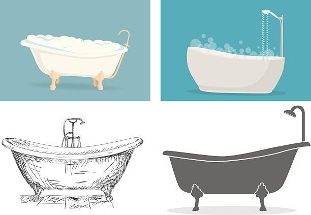 Bathtub vector art illustration