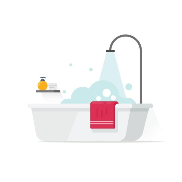 Top 60 Bathtub Clip Art, Vector Graphics And Illustrations