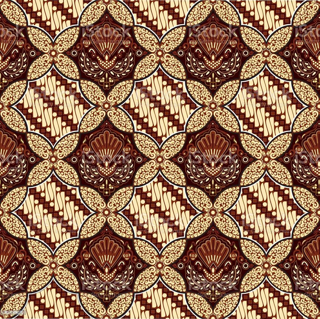 Batik Ceplok Parang. vector art illustration