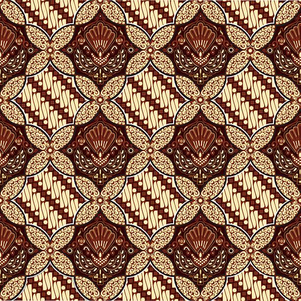 ilustrações de stock, clip art, desenhos animados e ícones de batik ceplok parang. - indonésia