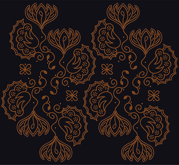 stockillustraties, clipart, cartoons en iconen met batik floral - batik