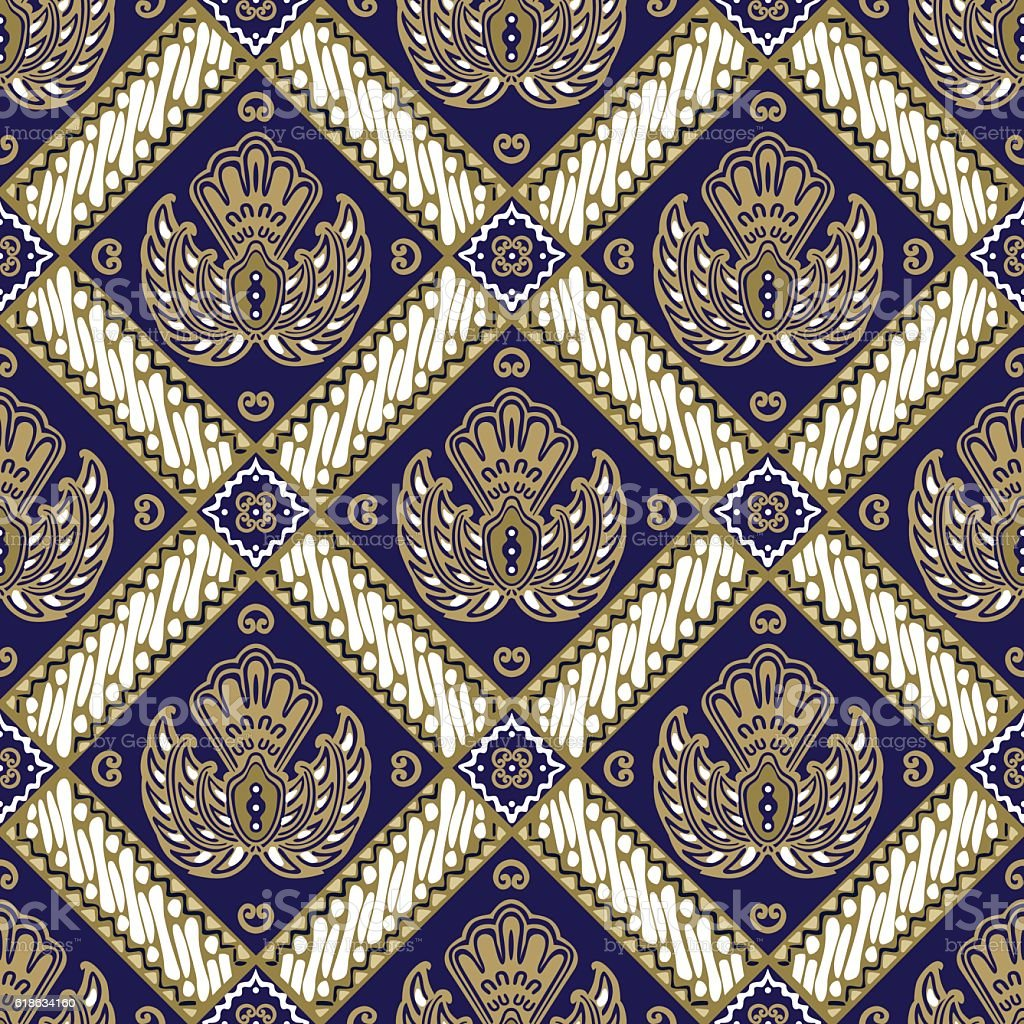Batik Jogja Motif Ceplok Stock Illustration