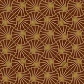 Batik Seamless Pattern - Fan - Red