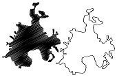 istock Batman City (Republic of Turkey, Southeastern Anatolia Region) map vector illustration, scribble sketch City of Batman map 1255724001