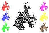 istock Batman City (Republic of Turkey, Southeastern Anatolia Region) map vector illustration, scribble sketch City of Batman map 1266288271