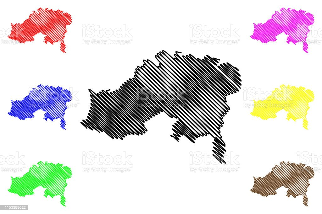 Batna Province Map Vector Illustration Scribble Sketch Batna ...