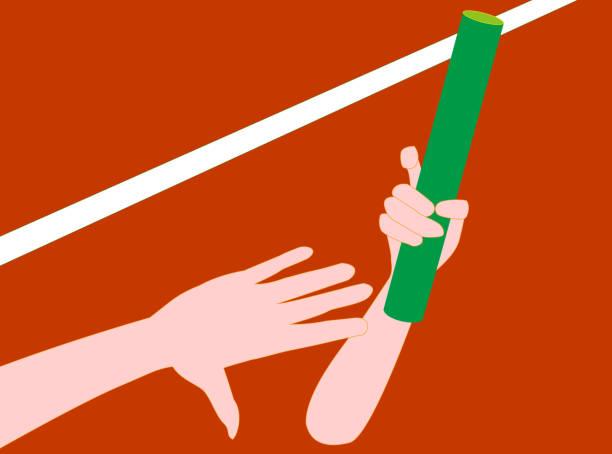 baton relay – artystyczna grafika wektorowa