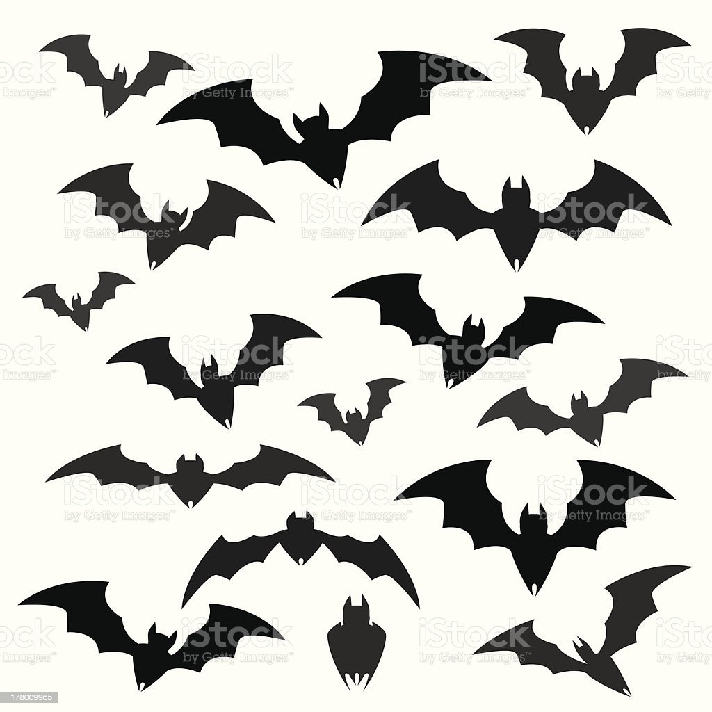 Bats and Halloween Icon Sets vector art illustration