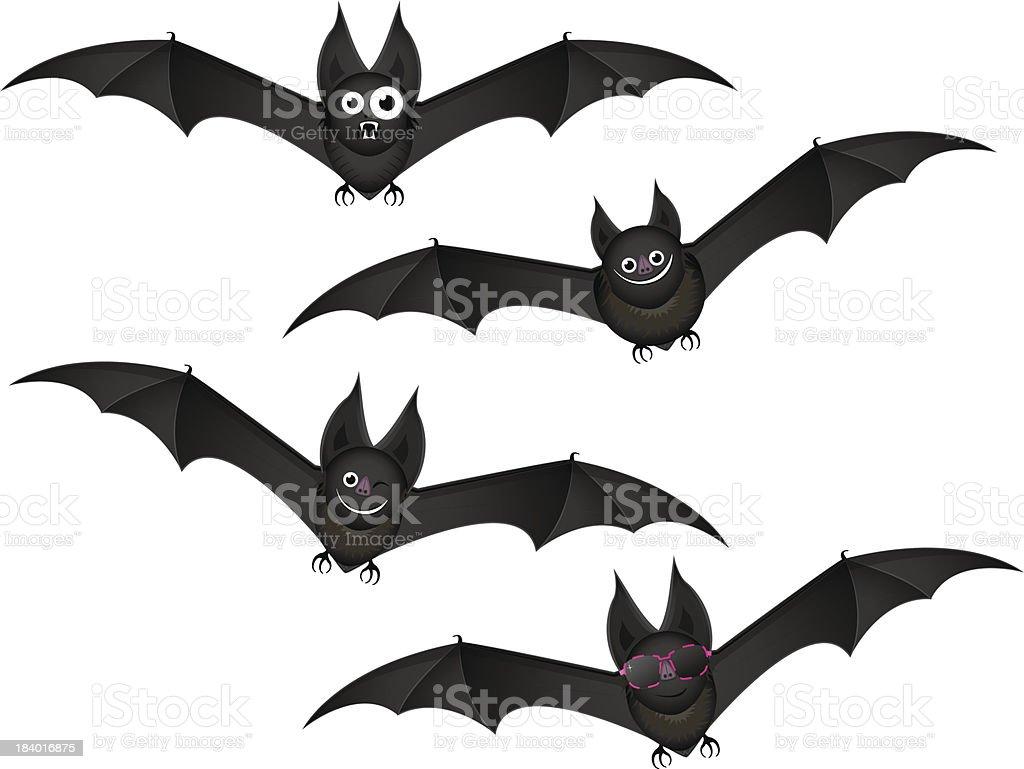 bats in flight royalty-free stock vector art