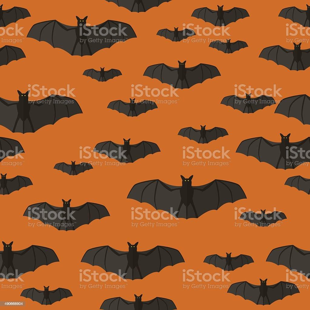 Bats pattern. vector art illustration