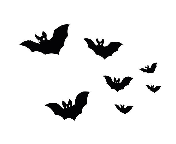 bats - bat stock illustrations, clip art, cartoons, & icons