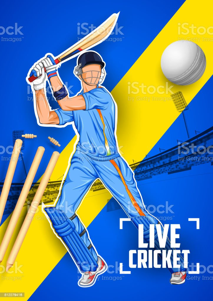 Best Cricket Player Illustrations  Royalty