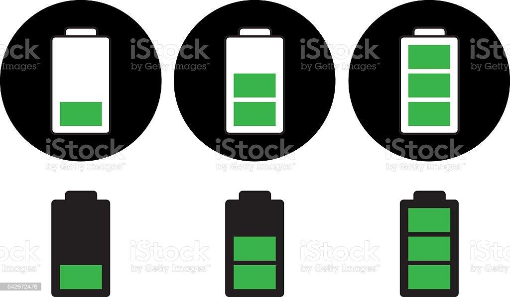 Batteries Charging vector art illustration