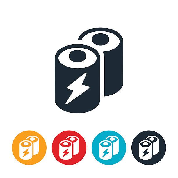Batteries Icon vector art illustration
