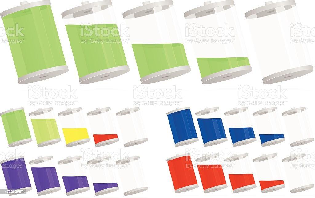 Batteries royalty-free stock vector art