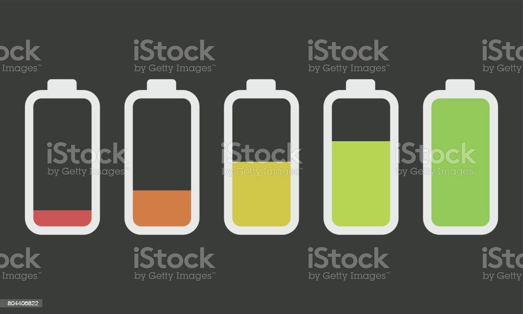 Batteries vector art illustration