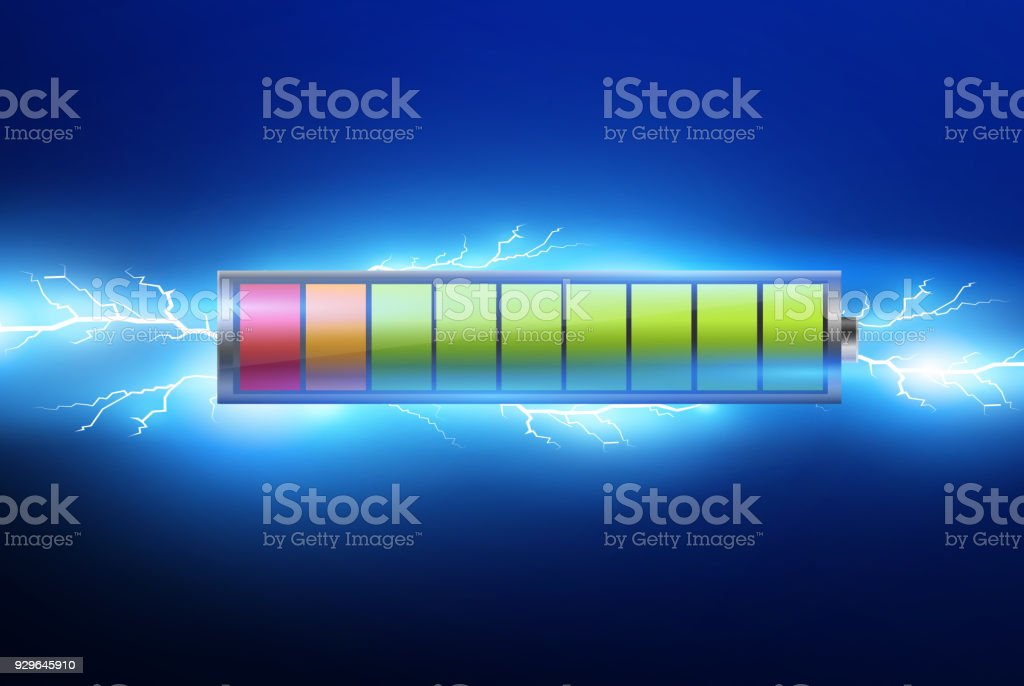 batteries with electric charge,pulse.lightning and electricity.vector illustration vector art illustration
