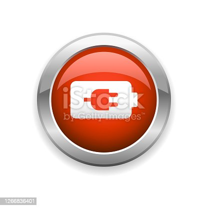 istock Battery and Charging Glossy Icon 1266836401