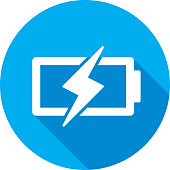 istock Battery Charge Icon Silhouette 1070339440