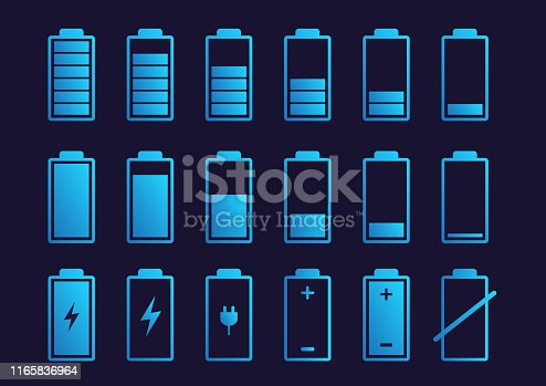 Battery charge indicator icon. Vector illustration.