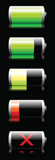 Battery charge indicator vector art illustration